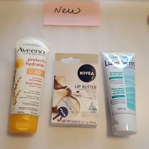 Other - @new@ suncream, body lotion, lip balm